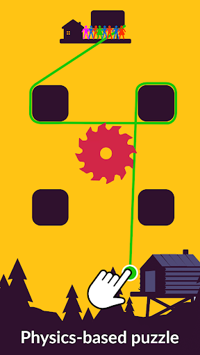 Zipline Valley - Physics Puzzle Game 1.8 screenshots 1