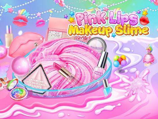 Pink Lipstick Makeup Slime 1.3 screenshots 9