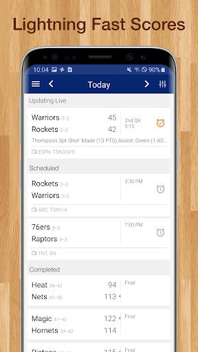 Basketball NBA Live Scores, Stats, & Schedules 9.2.1 Screenshots 9
