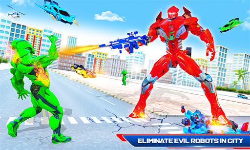 Robot Shark Attack: Transform Robot Shark Games apkpoly screenshots 5