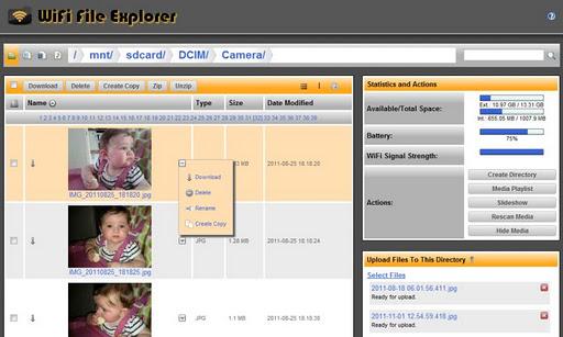 Foto do WiFi File Explorer