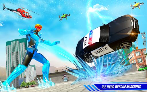 Flying Police Robot Snow Storm Hero: Crime City apktram screenshots 5