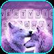 最新版、クールな Purple Wolves のテーマキーボード