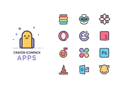Crayon Icon Pack 4