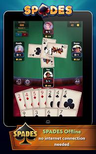 Spades - Offline Free Card Games screenshots 9
