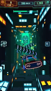 Neon Flytron: Cyberpunk Racer Mod Apk (Unlocked/No Ads) 2
