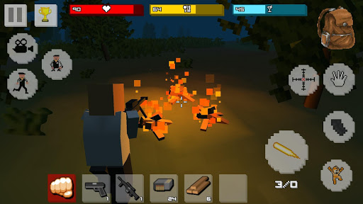 Zombie Craft Survival 3D: Free Shooting Game apkpoly screenshots 1