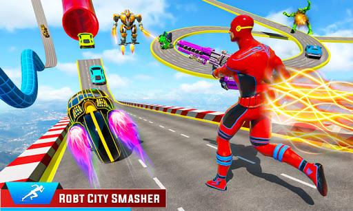 Speed Hero Robot Ramp Bike Transform Robot Games 1.7 screenshots 3