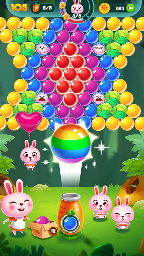 Bubble Bunny: Animal Forest Shooter apkpoly screenshots 5