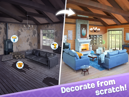 Merge Design: Home Renovation & Mansion Makeover 1.3.1 screenshots 9