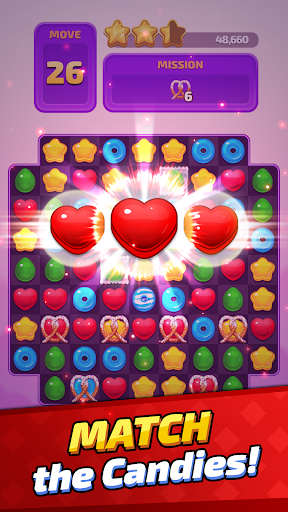 Sugar Land - Sweet Match 3 Puzzle apkpoly screenshots 2