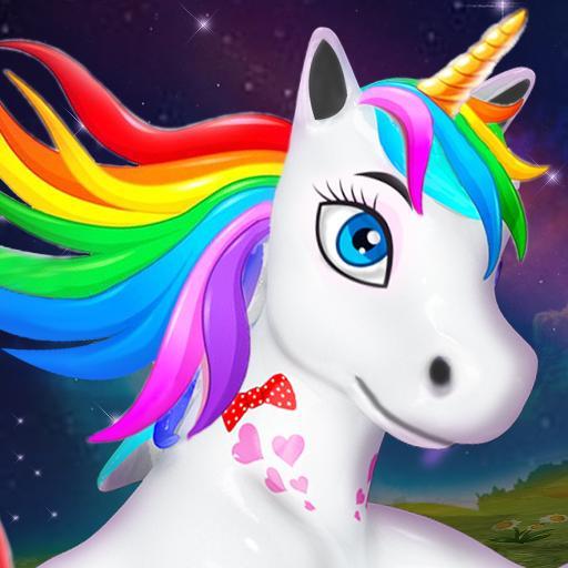 Baby Unicorn Wild Life: Pony Horse Simulator Games