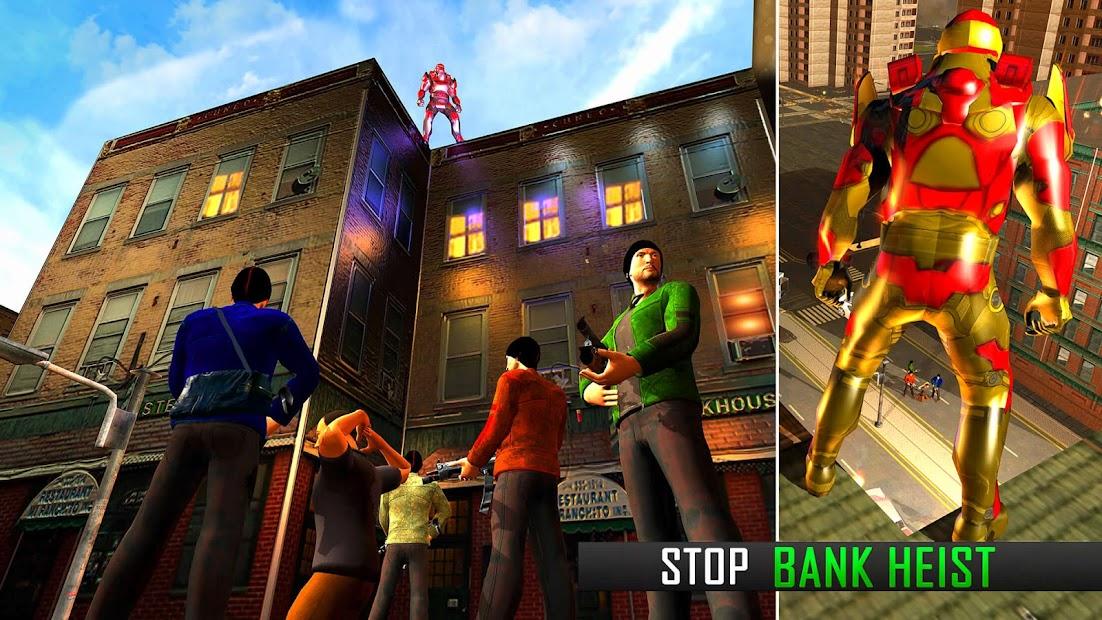 Captura de Pantalla 7 de Robot volar Grand City Rescate para android