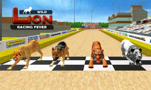 Wild Lion Racing Fever : Animal Racing apkdebit screenshots 3