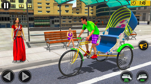 Bicycle Tuk Tuk Auto Rickshaw : New Driving Games  screenshots 3
