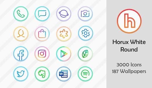 Horux White Apk- Round Icon Pack (Paid) 1