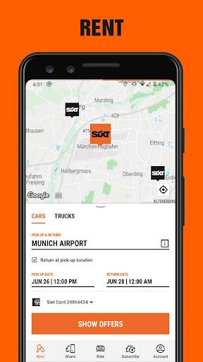 SIXT: Car rental, Carsharing & Taxi 9.40.2-10277 Screenshots 2