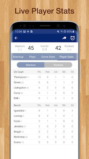 Basketball NBA Live Scores, Stats, & Schedules 9.2.1 Screenshots 5