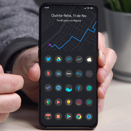 Download APK: Black Pie – Icon Pack v1.5 [Patched]