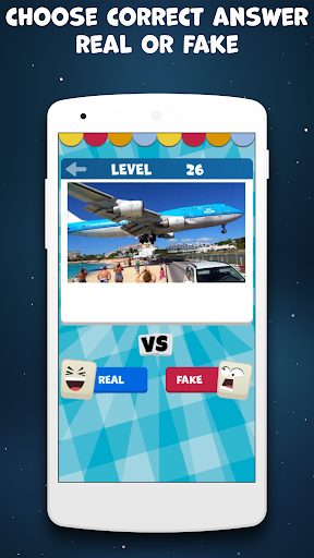 Real or Fake Test Quiz   True or False   Yes or No 2.0.0 screenshots 2