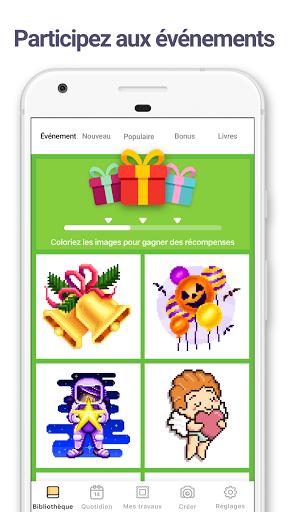 Code Triche Pixel Art : Jeu de coloriage par numéros (Astuce) APK MOD screenshots 3