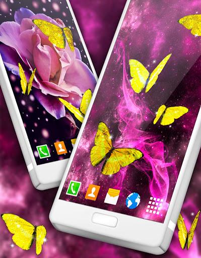 gold butterfly live wallpaper 🦋 golden wallpapers screenshot 3