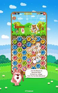 LINE Pokopang - POKOTA's puzzle swiping game! 7.5.3 screenshots 1