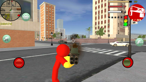 Iron Stickman Rope Hero Gangstar Crime 4.0 Screenshots 2