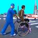 車椅子の人が救急車のゲームを救助