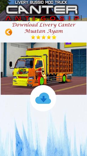 Livery Bussid Mod Truck Canter Anti Gosip  Screenshots 7
