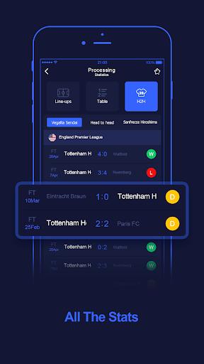 WinScore - free football live score.  screenshots 2