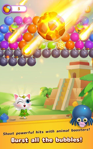 Bubble Shooter: Cat Island Mania 2020 apktram screenshots 2