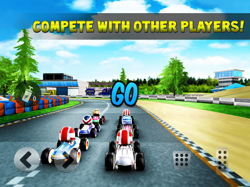 kart rush racing - 3d online rival world tour screenshot 2