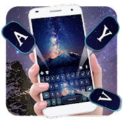 Galaxy Mountains Keyboard Theme