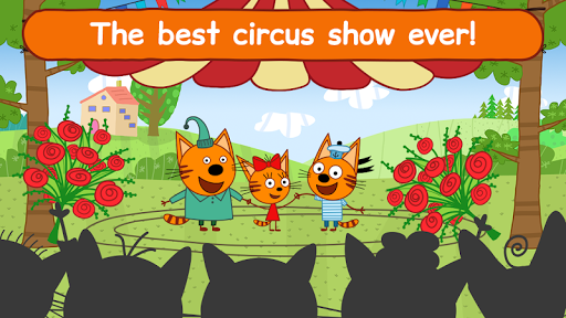 Kid-E-Cats Circus Games! Three Cats for Children screenshots 1