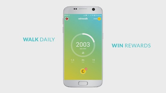 Pedometer winwalk - walk, sweat & win egift cards Screenshot