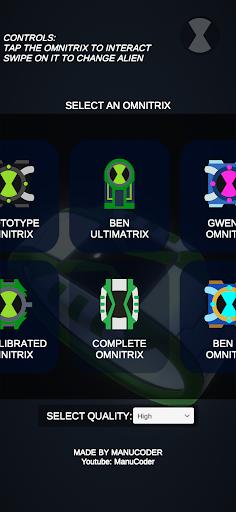 Omnitrix Simulator 3D | Over 10 aliens viewer  Screenshots 6
