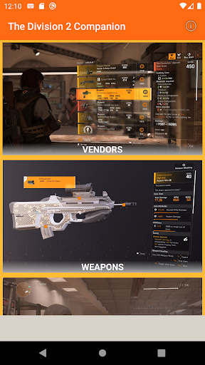 the division 2 companion app (game weekly vendor) screenshot 1
