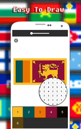 Flags Coloring By Number - Pixel  screenshots 4