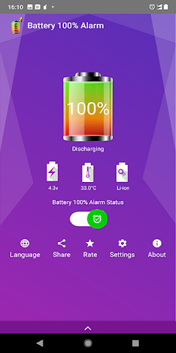 Battery 100% Alarm 4.3.3 Screenshots 1