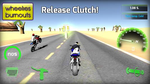 Motorbike  Online Drag Racing - Wheelie racing 3D screenshots 10