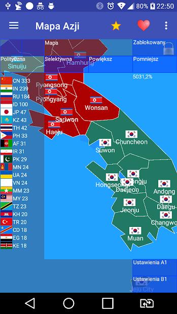 Captura de Pantalla 2 de Mapa Azji Free para android