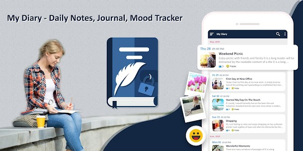 My Diary – Daily Notes, Journal & Mood Tracker 1.27 Android Mod + APK + Data 1