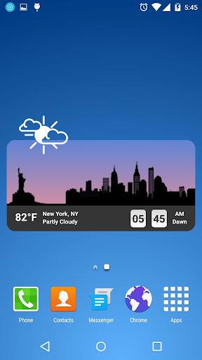 metro clock widget screenshot 1