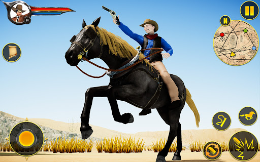 Cowboy Horse Riding Simulation apktram screenshots 15