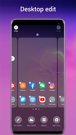 One S10 Launcher - S10 Launcher style UI, feature 6.4 Screenshots 4