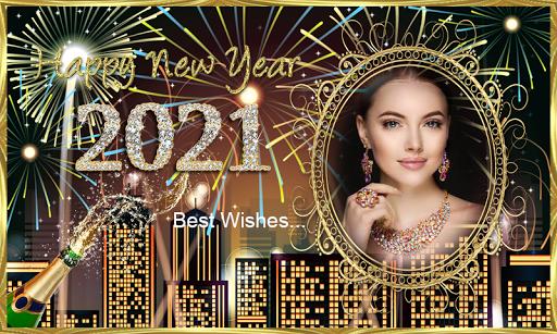 Happy New Year 2021 Photo Frames Greeting Wishes 1.0.1 Screenshots 4