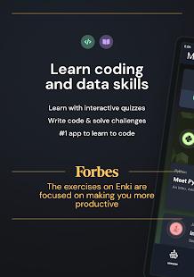 Enki: Learn data science, coding, tech skills 2.6.2 Screenshots 9