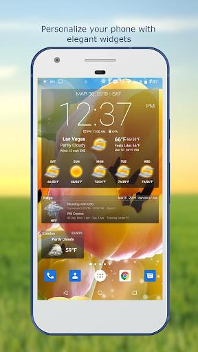Weather & Clock Widget for Android screenshots 1