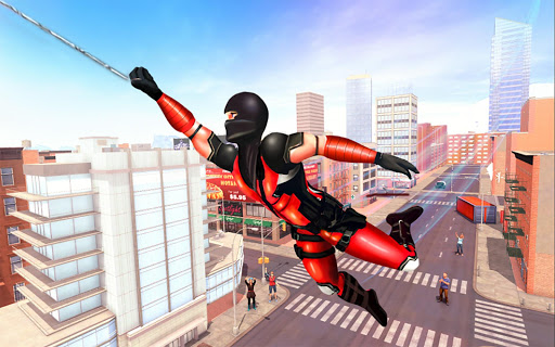Flying Ninja Rope Hero: Light Speed Ninja Rescue apkpoly screenshots 3